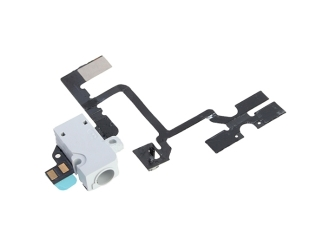 iPhone 4 Kopfh�rer Headphone Audio Jack mit Volume und Stumm Lautlos Mute Flex Kabel - W..