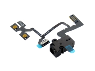 iPhone 4 Kopfh�rer Headphone Audio Jack mit Volume und Stumm Lautlos Mute Flex Kabel - Schwarz