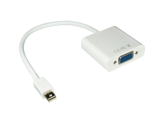 Mini Display Port auf VGA Adapter - weiss