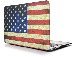 "MacBook Air 13"" Schutzhülle - USA Flagge - Matt Case SmartShell-Hülle"