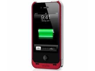 Mophie Juice Pack Air Aufladbares iPhone 4/4S Cover rot (PRODUCT) RED