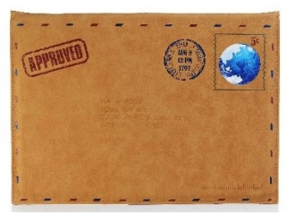 Retro Vintage Airmail Sleeve Briefhülle Ledercase iPad MacBook Air 13
