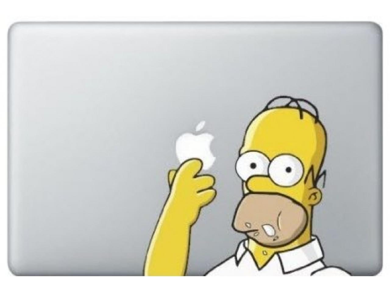 "MacBook 13"" Sticker Aufkleber - Homer Simpsons Eating Donut Cookie"