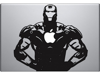 "MacBook 13"" Sticker Aufkleber - Iron Man Apple Power"