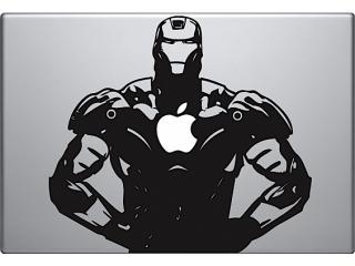 "MacBook 13"" Sticker Aufkleber - Iron Man Apple Power"