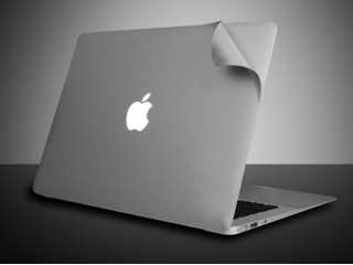 "MacBook Air 11"" MacGuard Silver Metallic Body Protector Unibody Folie"