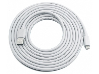 MicroUSB auf USB PC Lade & Transferkabel S6/S7/Xperia - 3 Meter weiss