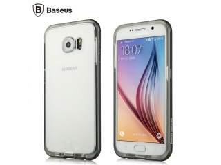 Baseus Fusion Series für Samsung Galaxy S6 Alu Soft TPU Hülle Schwarz
