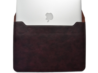 "Universal Ledertasche Slim Sleeve Pouch zu Macbook Air 11"" Dunkelbraun"