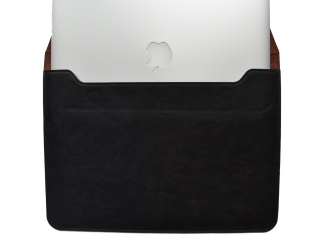 "Universal Ledertasche Slim Sleeve Pouch für Macbook Air 11"" - Schwarz"