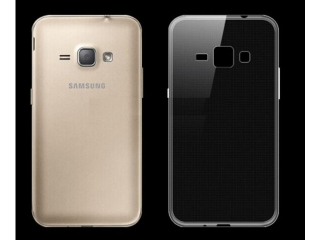 Samsung Galaxy J1 (2016) Ultra Thin Case Hülle Cover Gummi transparent