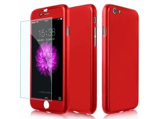 360 Grad Panzerglas Case iPhone 6/6S superdünner Rundumschutz Rot