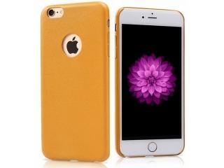Ultra dünne Leder Hülle für iPhone 6S in Hellbraun Slim Apple Case