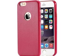 Ultra dünne Leder Hülle für iPhone 6S Plus in Rot - Slim Apple Case