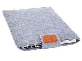 "Simple Filz Hülle für MacBook Pro, Retina 15"" Sleeve Pouch - Grau"