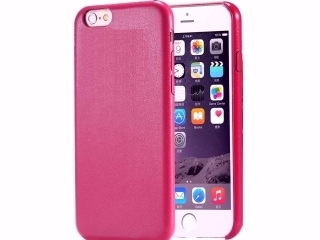 Ultra dünne Leder Hülle für iPhone 6S in Purple Cherry Slim Leder Case