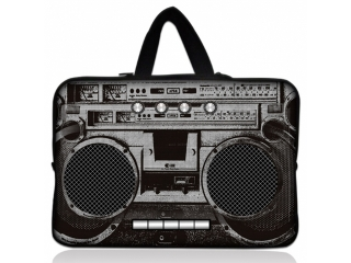 "Neoprene MacBook Sleeve 13"" Slim Soft Hülle Tasche - Ghetto Blaster"
