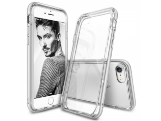 iPhone 8 Bumper Hülle Soft TPU Case mit hartem Rahmen - spacegrau