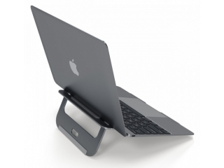 Satechi Alu Laptop Stand - Edler MacBook Ständer justierbar Space Grau