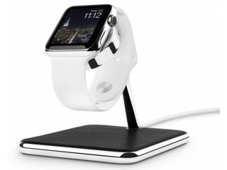 Twelve South Forté Ladeständer für Apple Watch mit Echtleder und Chrom