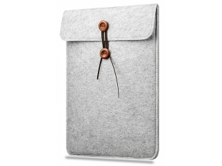"Button Filzhülle für MacBook Air, Pro & Retina 13"" Sleeve Pouch Grau"