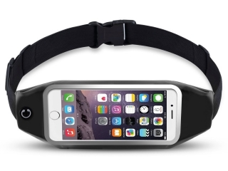 Bauchgurt mit Sichtfenster für iPhone 7 - Jogging Fitness Running Belt