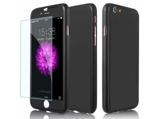 360 Grad Panzerglas Case iPhone 7 superdünner Rundumschutz Schwarz