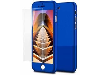 360 Grad Panzerglas Case iPhone 6/6S superdünner Rundumschutz Blau