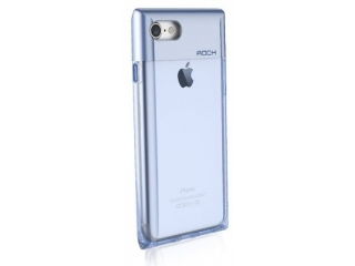 ROCK iPhone 7 Crystal Series Cover - transparent & blau
