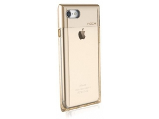 ROCK iPhone 7 Crystal Series Cover - transparent & gold