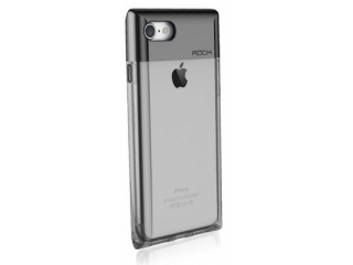 ROCK iPhone 7 Crystal Series Cover - transparent & schwarz