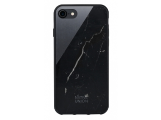 Native Union Clic Marble Hardcase für iPhone 7 - Echt Marmor schwarz