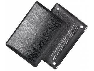 """Smartshell-Case mit Krokodil Leder Optik für MacBook 12"""" in schwarz"""