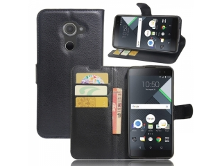 Ledertasche für BlackBerry DTEK60 Portemonnaie & Karten Hülle schwarz