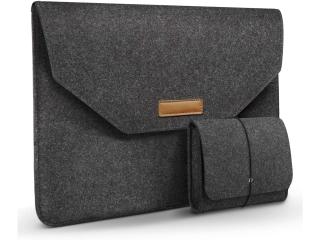 """13.3"""" Macbook Air Pro Filz Sleeve Hülle mit kleiner Tasche dunkelgrau"""