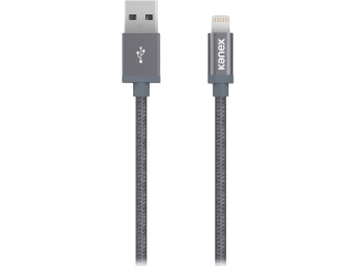 Kanex USB zu Lightning Kabel 1.2 Meter Nylon Alu (MFi Apple) Spacegrau