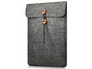 "Button Filzhülle für MacBook 12"" und Air 11"" Sleeve Cover - dunkelgrau"