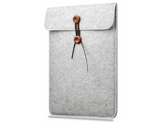 "Button Filzhülle für MacBook Pro 15"" Retina 2016 Sleeve Pouch Bag Grau"