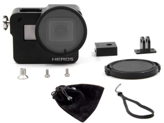 Aluminium Framecase zu GoPro Hero 5 Kamera inkl 52mm UV Filter Aufsatz