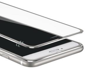 3D Panzerglas + Aluminium Frame für iPhone 7 Plus Glasfolie - silber