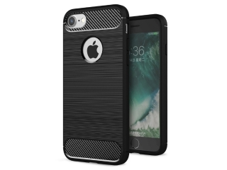 iPhone 7 Carbon Gummi Hülle Thin TPU Case Cover flexibel und stabil