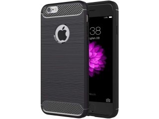 iPhone 6S Carbon Gummi Hülle Thin TPU Case Cover flexibel und stabil