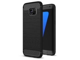 Samsung Galaxy S7 Edge Carbon Gummi Hülle Thin TPU Case Cover flexibel