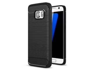 Samsung Galaxy S7 Carbon Gummi Hülle Thin TPU Case Cover flexibel