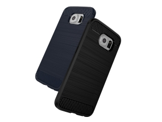 Samsung Galaxy S6 Carbon Gummi Hülle Thin TPU Case Cover flexibel