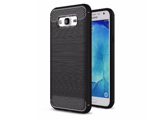 Samsung Galaxy J5 Carbon Gummi Hülle TPU Case Cover flexibel & stabil