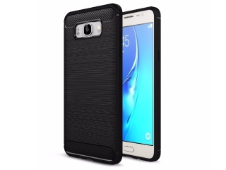 Samsung Galaxy J7 (2016) Carbon Gummi Hülle TPU Case Cover flexibel