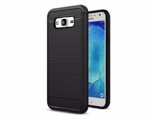 Samsung Galaxy J7 Carbon Gummi Hülle TPU Case Cover flexibel
