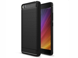 Xiaomi Mi 5 Carbon Gummi Hülle TPU Case Cover flexibel stabil elegant