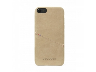 Decoded Nappaleder Backcover iPhone 8 Hülle mit Kartenfach beige